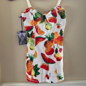 Talula Fruit Pattern Corset Top (NEW WITH TAGS)